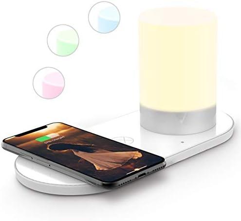 lampara de mesa con puerto carga dispositivos celular telefono elegante noche