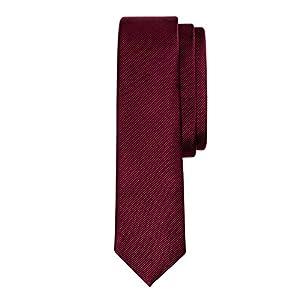 Salt & Dapper Men's Woven Silk Luxury Tie With Tie Bar & Giftbox Burgundy Solid