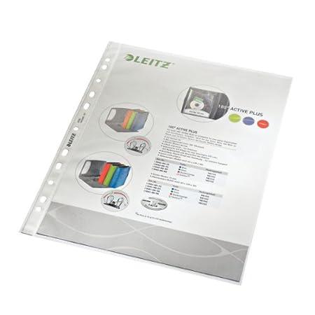 Leitz Prospekthülle A4, Farblos, Dokumentenechte PP-Folie genarbt, 0,085 mm, 100 er-Pack, 47900000