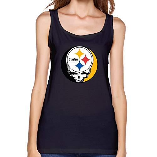 Grateful Dead Steelers Womans Sexy Tank Custom Vest T-Shirt XXL Black -