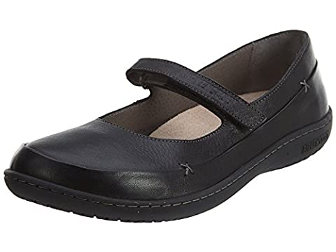 Birkenstock Women's Iona Mary Janes, Black Leather, Rubber, 41 N EU, 10-10.5 N - Iona Flat Shoe