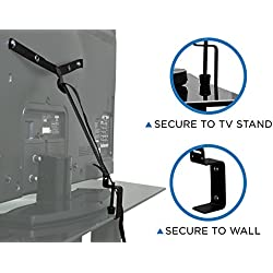 Mount-It! TV Safety Straps For Child and Baby Proofing, Anti-Tip Prevention and Earthquake Protection, Heavy-Duty Metal Connectors, Secures to TV Stand and Walls