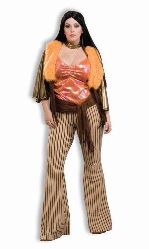 Cher Fancy Dress Costumes - Forum Novelties Women's Plus-Size 60's Mod Revolution Babe Costume, Multi, Plus