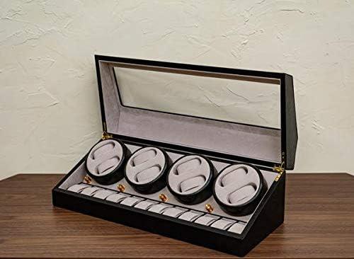 時計収納 ワインディングマシーン 8本巻 ブラック