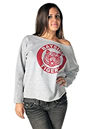 Saved by the Bell Kelly Kapowski Bayside Off the Shoulder Gray Juniors Sweatshirt