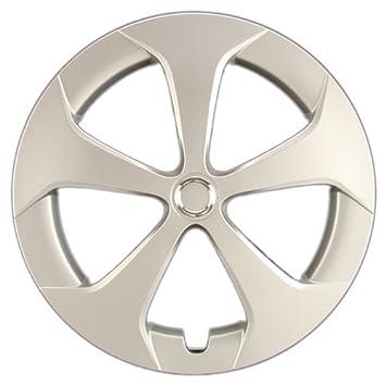 """hubcaps. com – PREMIUM CALIDAD – Toyota Prius réplica Tapacubos, 15 """"plata"""