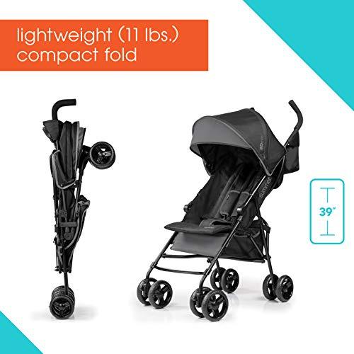 410yU%2BsbaJL - Summer Infant 3D Mini Convenience Stroller, Gray