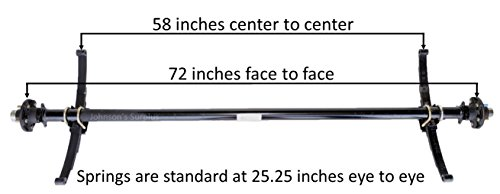 3,500 lb. Standard Spring Idler Trailer Axle (72' HubFace-58'SpringCenter)