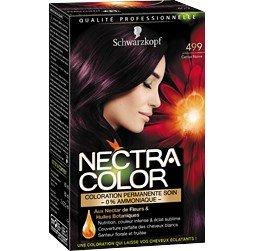 schwarzkopf nectra color 499 cerise noire coloration permanente soin la bote de 165ml - Coloration Color Et Soin