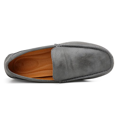 Leather Driving Closed Penny Grey Mens Moccasins Casual Toe Shoes Loafers TDA qRfwIc