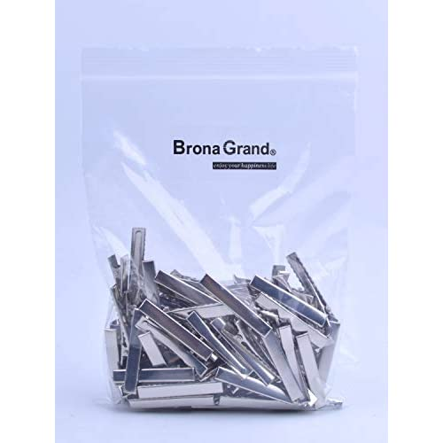 BronaGrand 100 PCS Silver Alligator Hair Clip Flat Top with Teeth for Arts & Crafts Projects, Dry Hanging Clothing, Office Paper Document Organization,Hair Care(1.77 Inch)