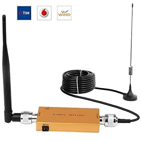 Yuanj Amplificadores de Señal 3G WCDMA 2100MHz Repetidor de Señal del teléfono Móvil Amplificador de Señal gsm + Antena con Cable de 10m: Amazon.es: ...