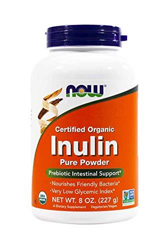 Now Inulin Prebiotic Fos, 8 Ounces