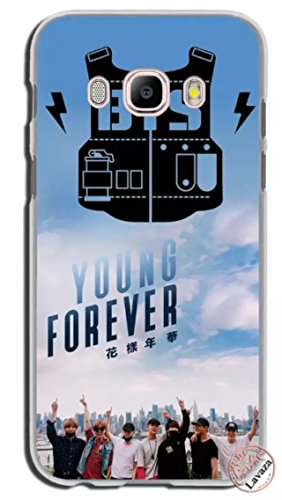 LLM 4 BTS Logo Love Yourself Face Love Wings Kpop Bangtan Boys Band Korean Rapmonster Jin Suga J-Hope Jimin V Jungkook Music Transparent Hard Cover Case For Samsung (Samsung Galaxy J3 2015/2016)