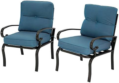 SUNCROWN 2-Piece Outdoor Metal Furniture