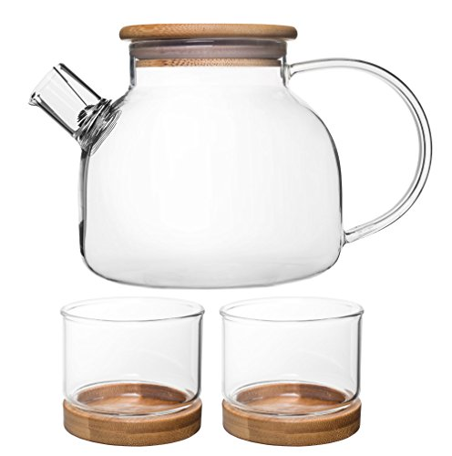 glass and bamboo tea kettle - 5
