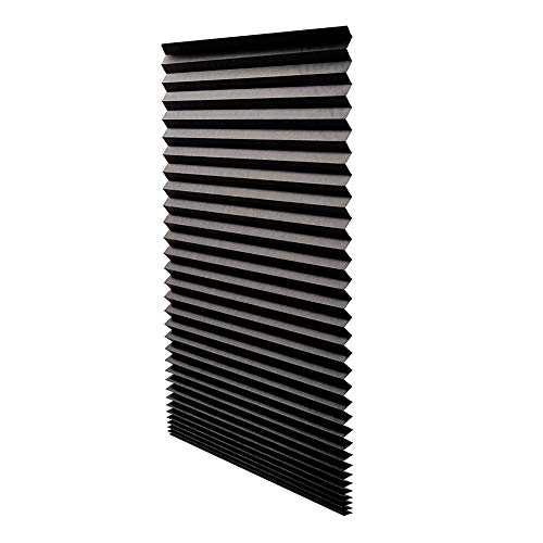 Shade Block Light (Pro-G Paper Pleated Shade Window Blind Blackout Light Block Cordless UV Protection 36