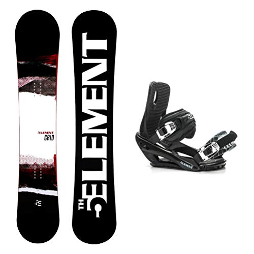 5th Element Grid Wide Stealth 3 Snowboard and Binding Package - 158cm Wide/Large-X Large