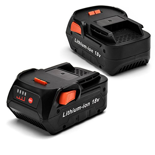 InnerTeck 2 Packs 18V 4.0Ah Lithium Ion Ridgid Replacement Battery for RIDGID BFL 18 AC840084 L1815R 18 Volt Cordless Tool Battery by InnerTeck