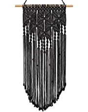 """Taufey Macrame Wall Hanging Art Woven Wall Decor Boho Chic Bohemian Home Decoration for Apartment Bedroom Living Room Hallway, 16"""" W x 31.5"""" L"""