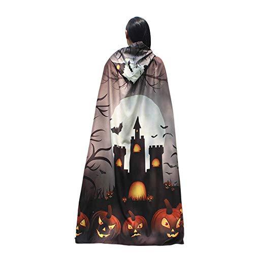 Halloween Women Cloak KIKOY Novelty Pumpkin Print Cape