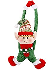 Weiy Christmas Decoration Door Hanging for Cats Colourful Plastic Hollow Chase Ball Toy,Green