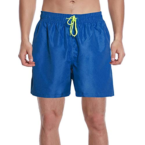 Justay Mens Swim Trunks Quick Dry Swimming Board Shorts Bathing Suits Swimsuits Beachwear with Mesh Lining]()