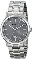 Bulova Men's 96B200 Stainless Steel Silver-Tone Watch