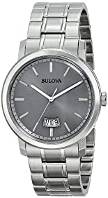 Bulova Men's 96B200 Stainless Steel Silver-Tone Watch