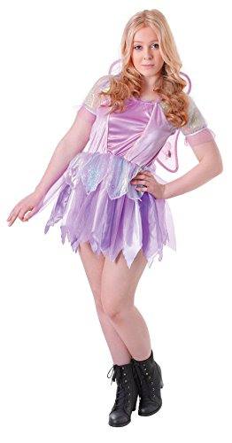 Uk 6-10 Purple Teenage Girls Fantasy Fairy Costume With (Teenage Girl Fairy Costumes)