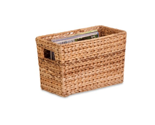 - Honey-Can-Do STO-02883 Magazine Water Hyacinth Basket, 15.5 L x 5.3 W x 10 H in