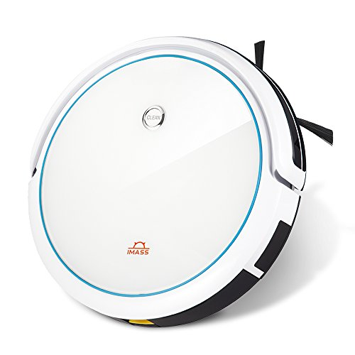 Robot Vacuum Cleaner with Mop IMASS A3-SWT Robot Home Cleaning with Slim Design Self-Charging Filter for Pet Hair, Cleans Hard Floors to Medium-Pile Carpets (White)