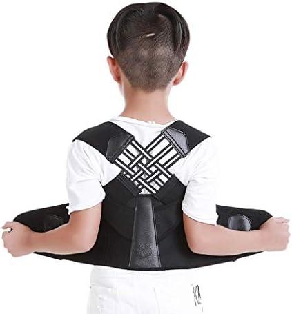 姿勢矯正装置、子供用姿勢ブレース鎖骨サポート調節可能なバックショルダー腰椎ウエストサポートベルスリミングを防止、痛みを軽減、黒 (Size : XS)