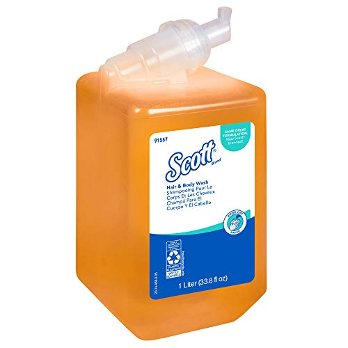 Liquid Soap System 800 Ml (Scott 91557 Essential Hair and Body Wash, Citrus Floral, 1000mL Bottle (Case of 6))