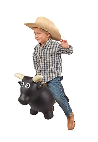 (Big Country Toys Lil Bucker Bull - Kids Bouncy Toys - Hopper Ball with Handle for Kids - Rodeo Toy - Bouncy Ball - Rodeo Hopper)