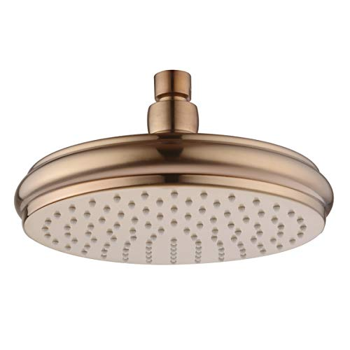 BESTILL 8 Inch Fixed Rainshower Shower Head, Champagne Bronze