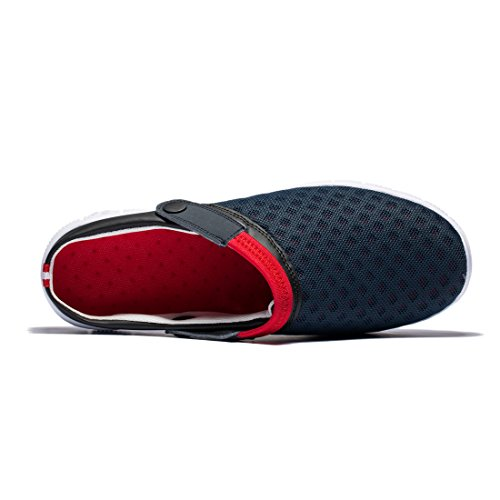 Mesh Breathable Shoes Aqua Beach and KENSBUY Durable Anti Unisex Black red Outdoor Summer Walking Slippers Slip wSFETqXp