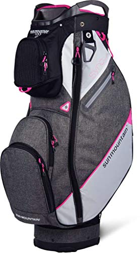 Sun Mountain Golf 2019 Sync Women Cart Bag - Black-Iron-White-Pink