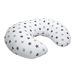 Cuddles Collection Twinkle Star Nursing Pillow (Silver)