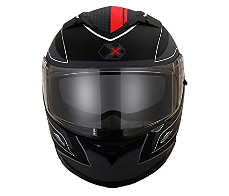 d6380af9 Axor Stealth Triton Full Face Helmet (Dull Black/Red, L): Amazon.in ...