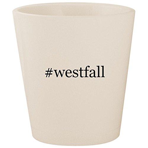 (#westfall - White Hashtag Ceramic 1.5oz Shot Glass)