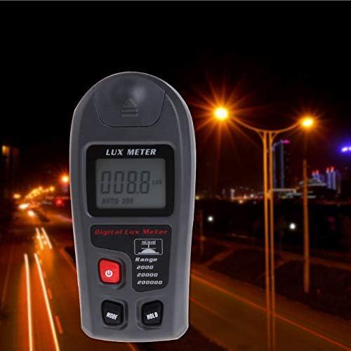 Kul-Kul Digital Luxmeter 0.1~200000Lux Light Meter Sensor Large LCD Display Pometer