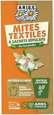 ARIES, Mites textiles, Sachets protection des tiroirs, 6 unités