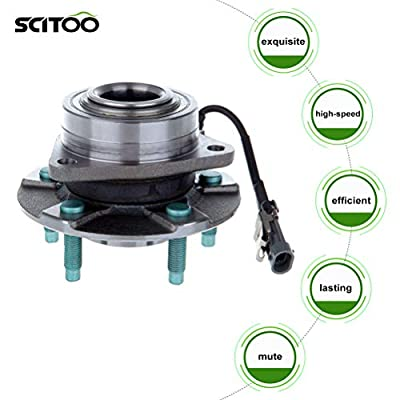 SCITOO Wheel hub Bearing for Chevrolet Equinox Pontiac Torrent Saturn Vue 2005-2007 Compatible for OE 512229 Front and Rear W/ABS(4 Pair): Automotive