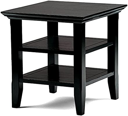 edgy furniture edgy side table in black finish for storage decor home office furniture shelves coffee end wooden square modern accent ebook by easyfundeals amazoncom