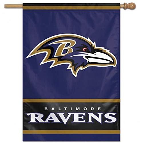 WinCraft NFL Baltimore Ravens Vertical Flag, 27 x 37-Inch/Large, Black