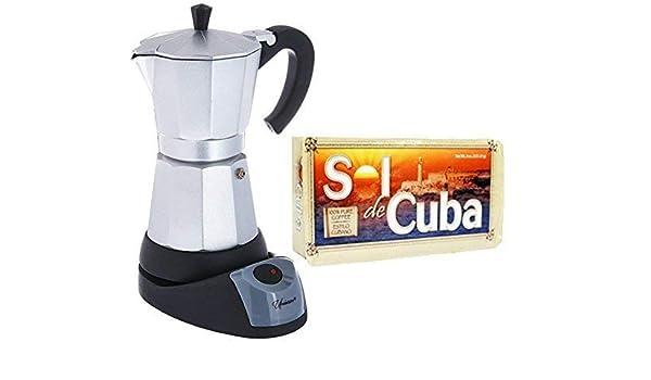 Cafetera eléctrica Cuban/Espresso 3 tazas. Paquete de café ...