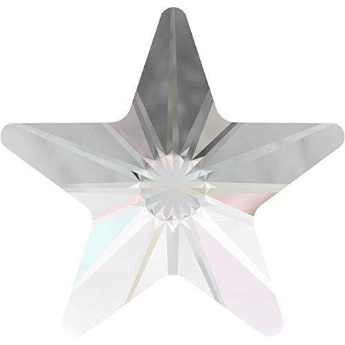 2816 Swarovski Nail Art Gems & Flatback Crystal Shapes Rivoli Star   Crystal AB   5mm - Pack of 10   Small & Wholesale Packs ()