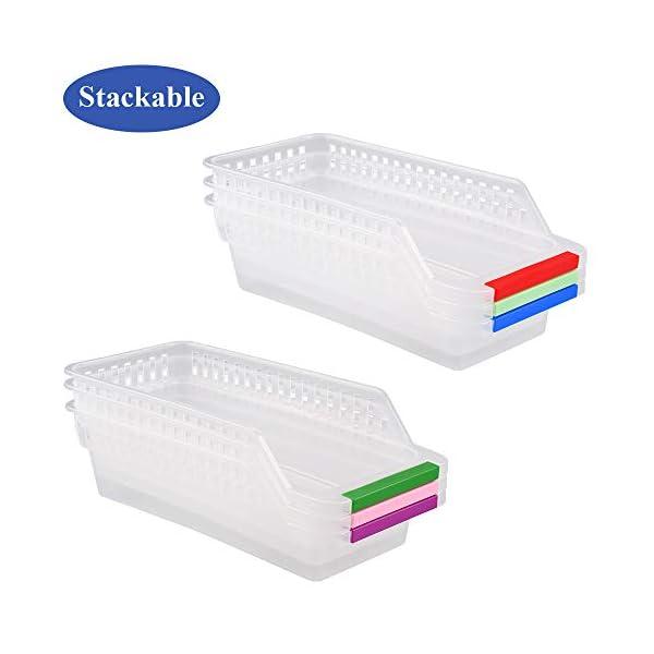 410yabdJaaL Kühlschrank Organizer, JRing Kühlschrankbox 6 Stück Kühlschrank Container Aufbewahrungsbox Schubladen Pantry Lagerung…