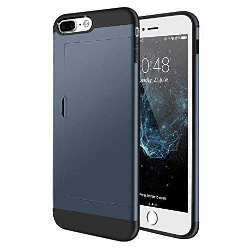 (1 piece Luxury 2 in 1 Hybrid TPU Plastic Card Pocket Wallet Shockproof Armor Case Cover For Apple iPhone 8 Plus 7 Plus 6 6S Plus 5 5S SE)